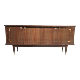 1940s French Art Deco Mahogany With Mother of Pearl Sideboard/Credenza/Buffet. For Sale
