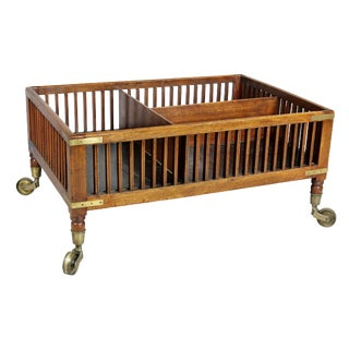 Regency Mahogany and Brass Book Trolley For Sale
