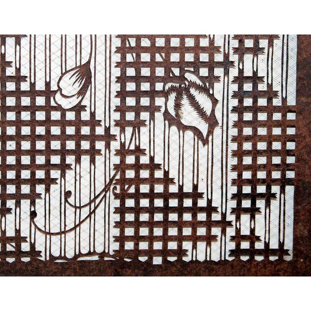 f18466a89 Mid 19th Century Antique Japanese Kimono Katagami Fabric Stencil For Sale -  Image 5 of 11