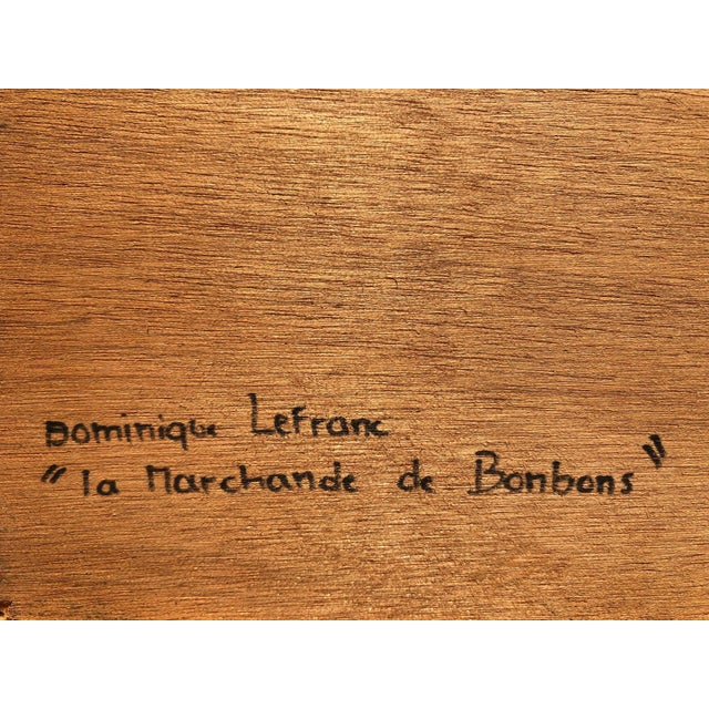Mid-Century Painting - La Marchande De Bonbons by Dominique LeFranc 1979 For Sale In New York - Image 6 of 10
