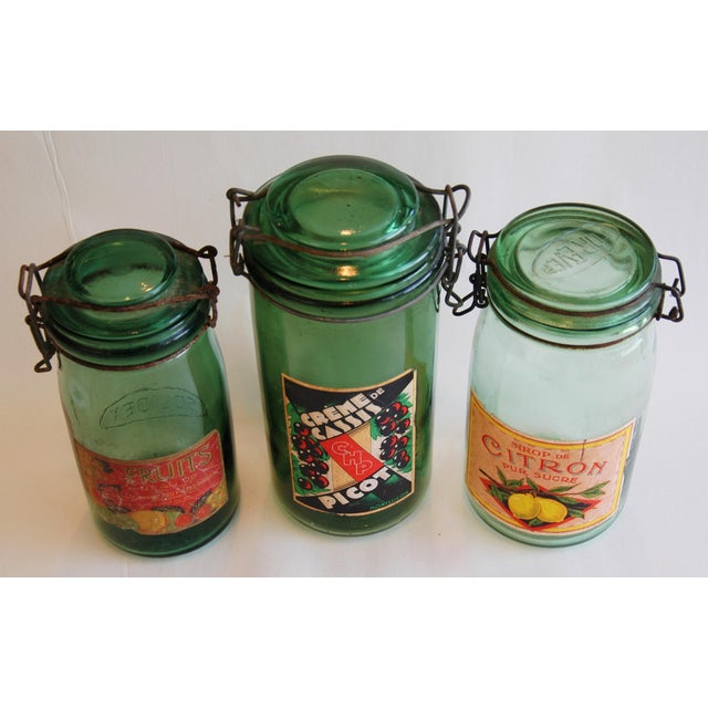 French 1930s Canning Preserve Jars - Set of 3 - Image 4 of 8
