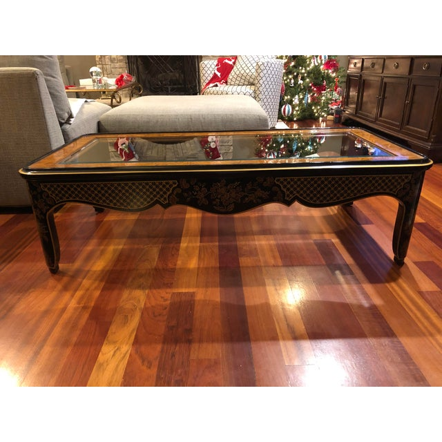 Asian 1980s Chinoiserie Drexel Heritage Coffee Table For Sale - Image 3 of 11