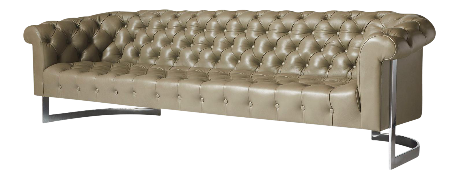 Milo Baughman Modern Chesterfield Sofa   Image 1 Of 8