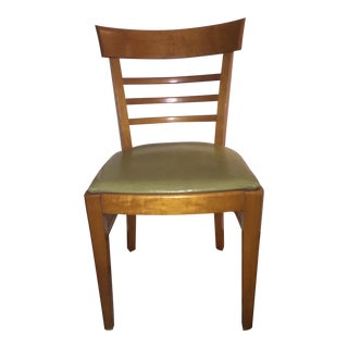 Vintage Thonet Bentwood Upholstered Side Chair For Sale