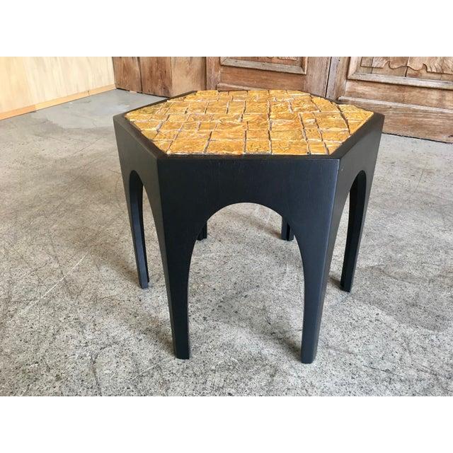 Mid-Century Modern Mid-Century Modern Brutal Tile Top Side Table For Sale - Image 3 of 7