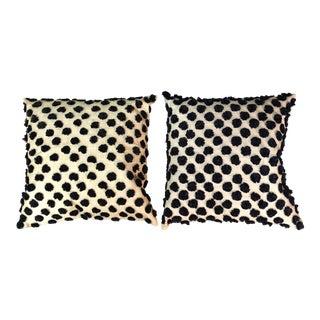 Raffia Polka Dots Pillows For Sale