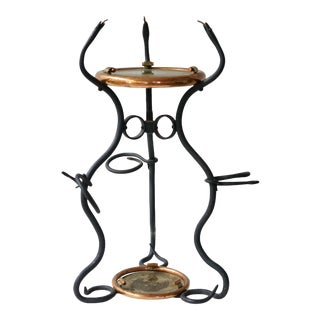 """Vintage Two-Tiered Hand Forged """"snake"""" Table For Sale"""