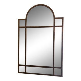 1940s Vintage Georgian Style Faux Bamboo Mirror For Sale