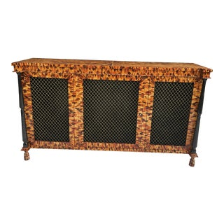 Regency Style Faux Tortoiseshell Credenza For Sale