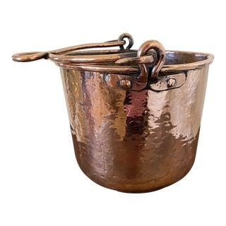 Antique Hammered Copper Pot For Sale