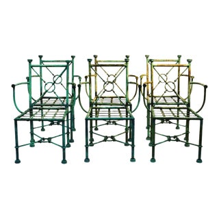 Giacometti Style Chairs - Set of 6 For Sale