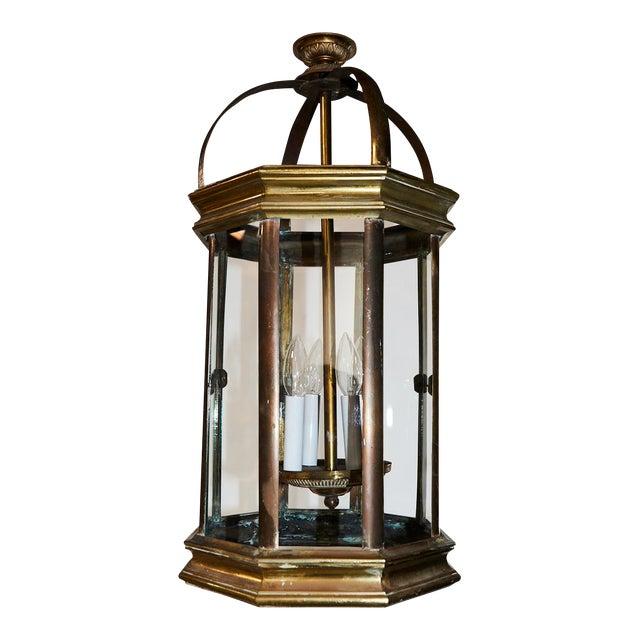 Pair of English Lantern Hanging Lamps For Sale