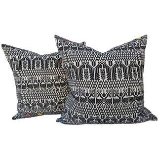 Hand Loomed Tribal Pillows- A Pair