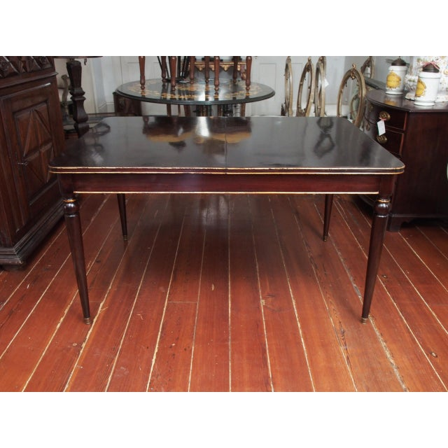 Brown Maison Jansen Mahogany Dining Table For Sale - Image 8 of 10
