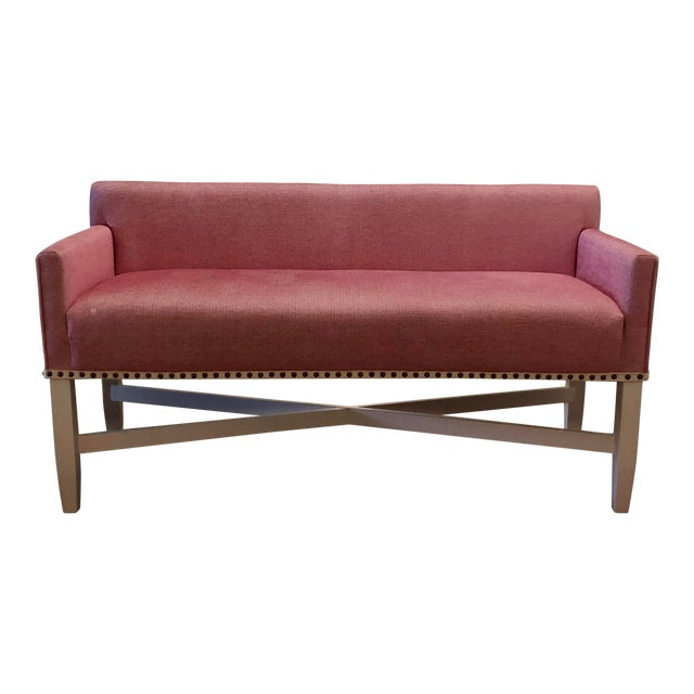 Pink Upholstered Oomph Tini X Bench For Sale