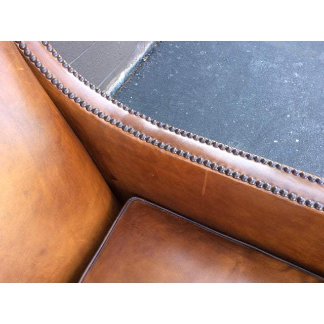 Brown Leather Club Chair For Sale - Image 10 of 12
