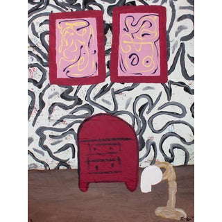 "Bumpy Wilson ""The Restroom Wall"" Contemporary Abstract Painting For Sale"