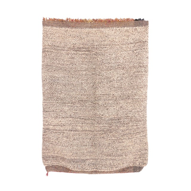 "Beni Ourain Moroccan Rug - 3'5"" x 4'11"" - Image 1 of 4"