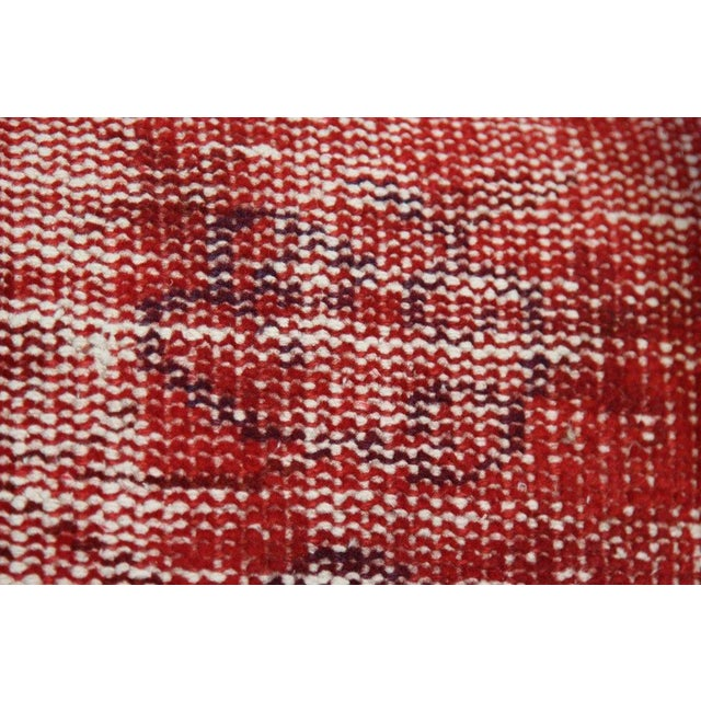 Red Over-Dyed Rug Pillow Covers - A Pair - Image 6 of 7