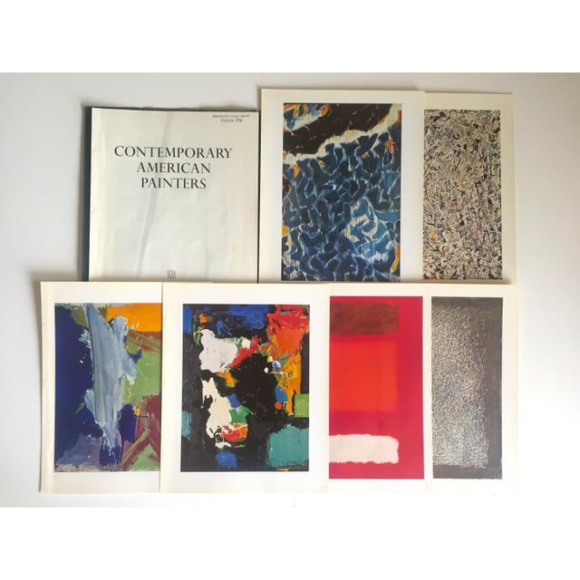"Vintage 1966 ""Contemporary American Painters"" Abstract Expressionists Lithograph Prints Folio - Set of 6 For Sale - Image 12 of 13"