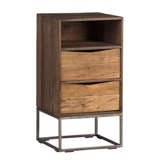 River Two Drawer End Table For Sale