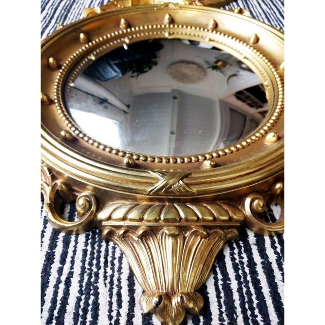 Federal Eagle Gilded Convex Mirror For Sale - Image 4 of 5