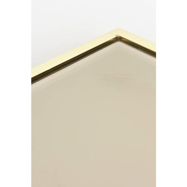 Italian Brass & Glass Greek Key Nesting Tables Final Markdown For Sale - Image 9 of 11