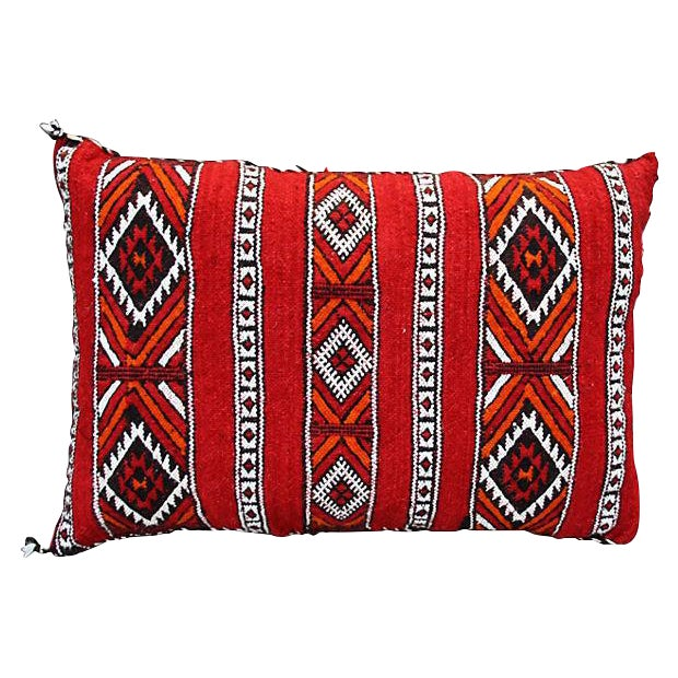 Diamonds & X-Pattern Moroccan Pillow For Sale