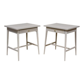 White Paul McCobb Nightstands - A Pair For Sale