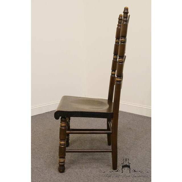 Late 20th Century 20th Century Traditional Ethan Allen Old Tavern Pine Ladder Back Dining Chair For Sale - Image 5 of 9