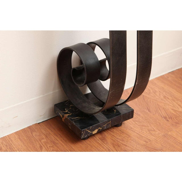 Art Deco Wrought Iron Console For Sale - Image 4 of 10