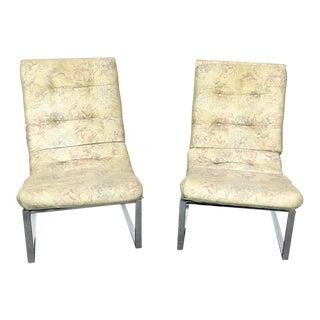 Pair of Italian Modern Flat Bar Lolling Chairs