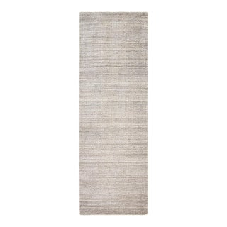 Halsey, Contemporary Solid Hand Loomed Runner Rug, Linen, 2' 6 X 10 For Sale