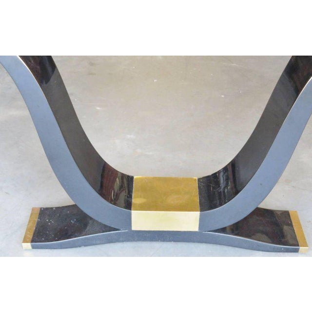 Mid-Century Modern Enrique Garcel Tassellated Horn Console and Mirror For Sale - Image 3 of 8