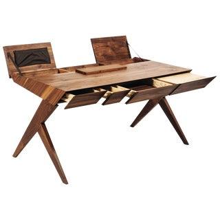 """Locust"" Wood Desk, Alexandre Caldas For Sale"