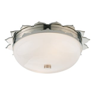 Rachel Flush Mount in Polished Nickel For Sale
