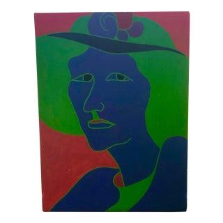 Vintage Woman With Hat Portrait Study For Sale