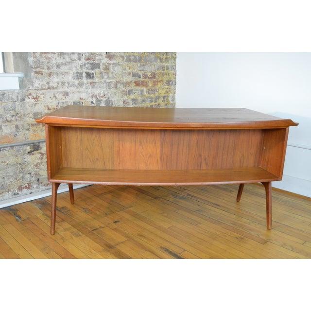 Svend Madsen Svend Madsen Model Sh 180 Danish Modern Teak Writing Desk For Sale - Image 4 of 10