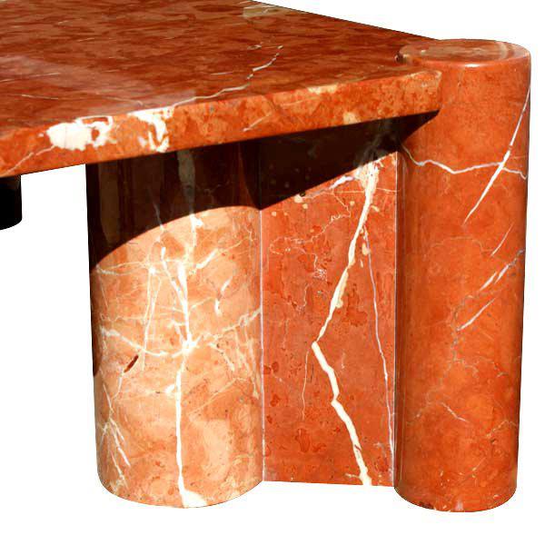 Knoll 1965 Vintage Knoll Gae Aulenti Jumbo Marble Coffee Table For Sale - Image 4 of 4