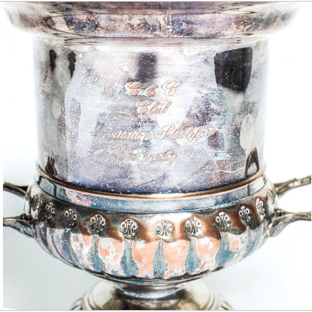 English Traditional SILVER CHAMPAGNE BUCKET For Sale - Image 3 of 4