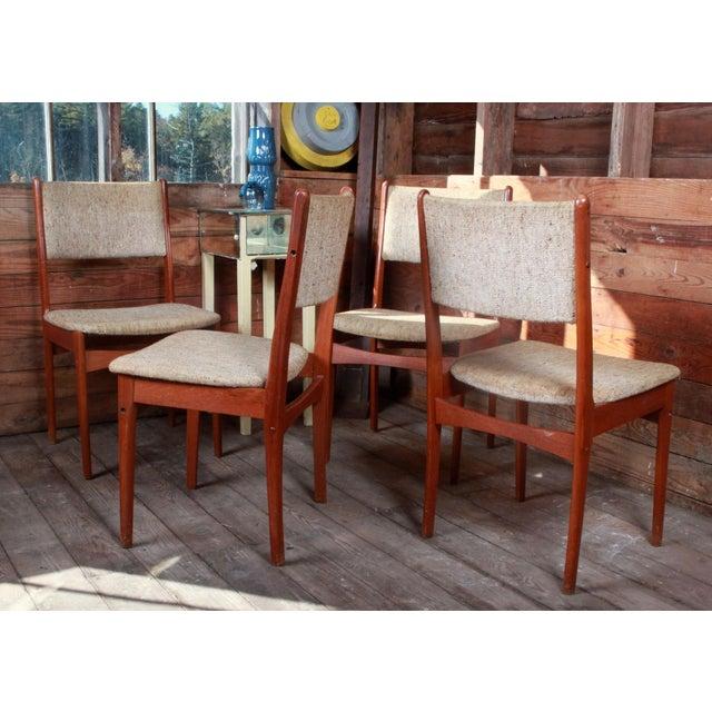 Vintage Teak Danish Modern Dining Chairs - Set of 4 - Image 9 of 9