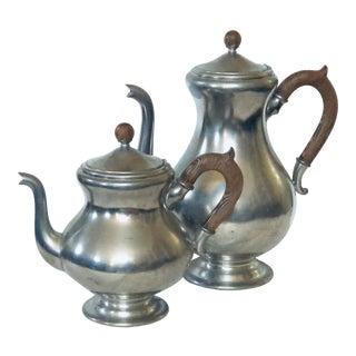 Dutch Pair of Coffee/Tea Pots For Sale