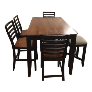 Bar High Dining Table Set For Sale
