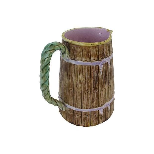 Antique English Majolica Jug - Image 3 of 4
