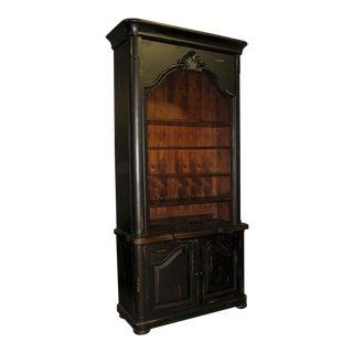 Bookcase French Provincial Antique Blackwash For Sale