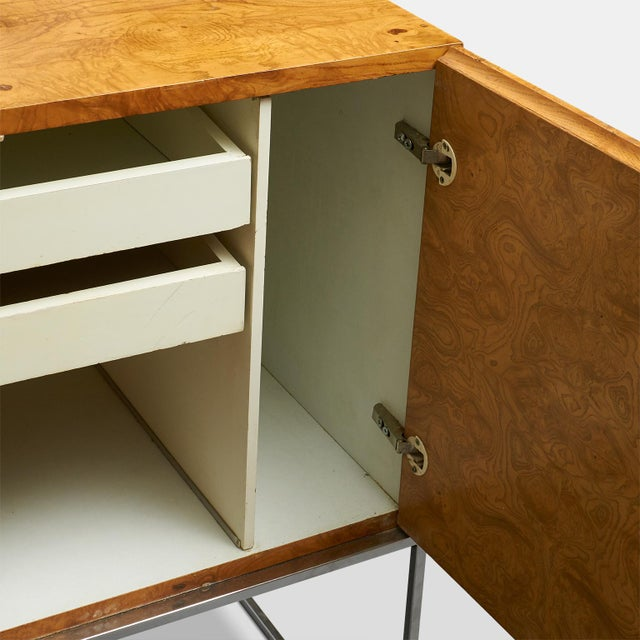 1970s Tall burlwood credenza by Milo Baughman For Sale - Image 5 of 6