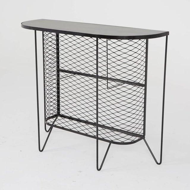 1950s Frederick Weinberg Wrought Iron Bar & Stools - Set of 5 - Image 4 of 11