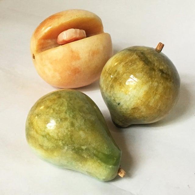 Decorative Marble Fruit - Set of 3 - Image 3 of 6