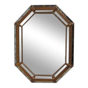 Vintage Italian Venetian Decorator Hanging Wall Console Mirror - Image 1 of 5