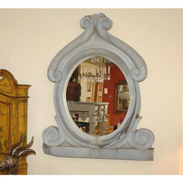 Mid 19th Century Large 19th Century Zinc Window Mirror For Sale - Image 5 of 5